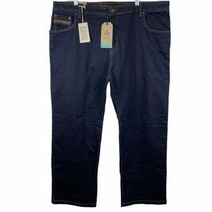 prAna Axiom Indigo Overdye Denim Jeans Size 42x32